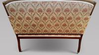 Art Nouveau Mahogany Inlaid Salon Settee (4 of 5)