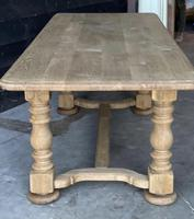 French Bleached Oak Refectory Farmhouse Dining Table (13 of 26)