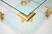 1970's Pair of Vintage Acrylic & Glass Side Tables (5 of 11)