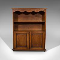 Antique Headmaster's Office Bookcase, English, Oak, Cabinet, Edwardian c.1910 (12 of 12)