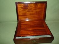 Inlaid Rosewood Writing Box - Extended Office Section c.1870 (14 of 16)