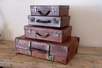 Large Vintage Brown Leather Suitcase (15 of 15)