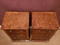 Superb Pair of Antique Burr Walnut Bedside Chests (6 of 6)