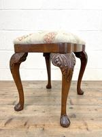 Late Victorian Carved Mahogany Stool (6 of 8)