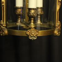 French Gilded Bronze Antique Hall Lantern (4 of 9)