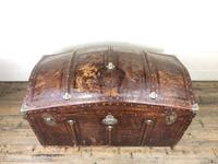 Large Leather Bound Dome Top Trunk (3 of 15)