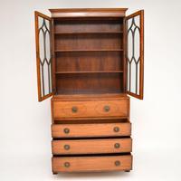 Antique Inlaid Mahogany Secretaire Bureau Bookcase (6 of 11)