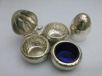 Silver Victorian Acorn Cruet Set (4 of 6)