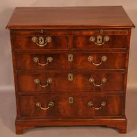 Rare English Walnut Small Chest of Drawers (5 of 9)