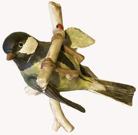 A Porcelain figure Of a Hanging Titmouse by Goebel of Germany (3 of 5)