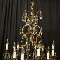 French Bronze 12 Light Antique Chandelier (7 of 10)