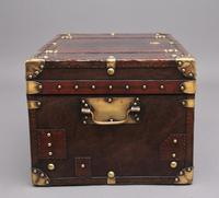 20th Century Leather Bound ex Army Trunk (4 of 13)