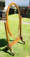 1930's Art Deco Oak  Cheval Mirror (13 of 18)