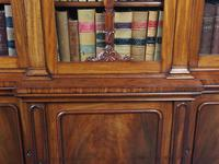 Antique George IV Mahogany Breakfront Library Bookcase (8 of 14)