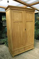 Quality! Large Old Pine Double 'Knock Down' Wardrobe - We Deliver! (2 of 17)