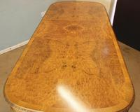 Burr Walnut Queen Anne Style Extending Dining Table c.1930 (9 of 13)