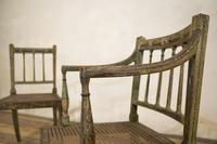 Charming Near Pair of Regency Green Painted Occasional / Elbow Chairs (2 of 14)