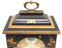 Good Caddy Top Mantel Clock – Chinoiserie Striking 8-day Mantle Clock by Elliot London (8 of 13)