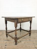 Antique Oak Side Table (m-2295) (9 of 12)