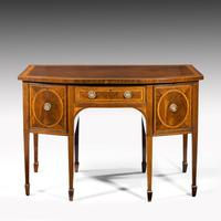 George III Sheraton Period Mahogany Bow Front Sideboard (2 of 7)