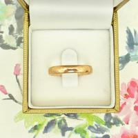 English Antique 9ct Rose Gold Wedding Band 1920's (10 of 10)