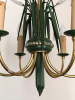 Vintage Art Deco Style Murano & Toleware Wheatsheaf Ceiling Light Chandelier (9 of 12)