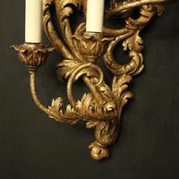 Florentine Silver Giltwood Antique Wall Lights (5 of 10)