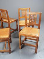 Mouseman Oak Dining Table & Set of 6 Chairs (7 of 20)