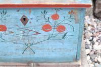 Swedish 'folk art' original blue paint box from hälsingland region, 1847. (19 of 26)