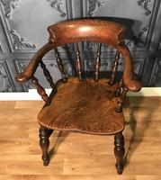 Victorian Elm Captains Smokers Bow Chair (9 of 13)