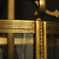 French Pair of Bronze Antique Hall Lanterns (5 of 10)