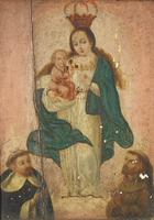 Antique Oil Painting Madonna & Child Murillo 18th Century (2 of 8)