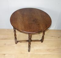 Folding Oak Victorian Table (4 of 6)