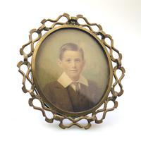 Attractive Portrait Miniature in a Quality Arts & Crafts Frame 19th Century (2 of 6)