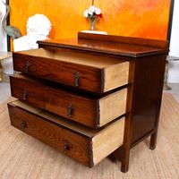 Oak Chest of Drawers Solid Wild Oak c.1920 (8 of 13)