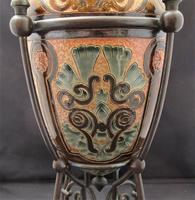 Superb Doulton Lambeth Oil Lamp by Mark V Marshall, 1881 (11 of 18)