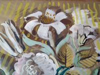 """Circle / Follower of Bloomsbury Group"""" Still Life """" Signed Rob 1946 (5 of 7)"""