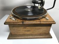 Horn Gramophone 1910 Oak Cased (7 of 7)