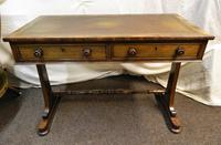 William IV Rosewood Writing Table / Library Table (2 of 6)