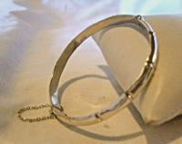 "Vintage Sterling Silver Bamboo Bangle Ornate Silver Bracelet 7 1/4"" Length (6 of 12)"