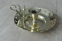Victorian Benham & Froud Brass Chamberstick c.1880 (2 of 7)
