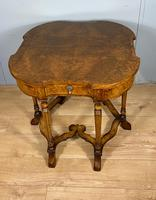 Late Victorian Burr Walnut Card Table (7 of 9)