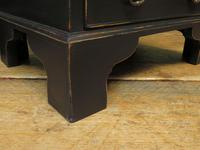 Pair of Antique Style Black Painted Bedside Chests, Gothic Shabby Chic (8 of 13)