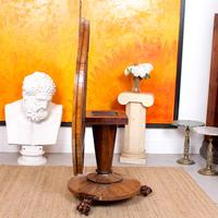 William IV Rosewood Breakfast Table Tilt Top Dining Console (2 of 11)