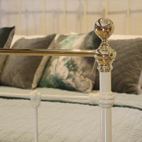 Cream Brass and Iron Antique Bed (5 of 6)