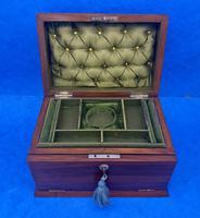 Victorian Walnut Jewellery Box c.1900 (8 of 13)