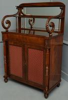 Fine Regency Mahogany Chiffonier Side Cabinet (2 of 18)
