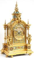 Incredible Antique French Champlevé Ormolu Bronze 8 Day Striking Mantel Clock c.1860 (12 of 13)