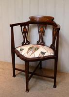 Mahogany Art Nouveau Corner Chair (10 of 10)