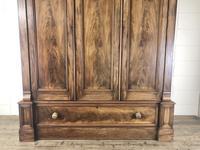 Large Victorian Mahogany Triple Compactum Wardrobe (3 of 11)
